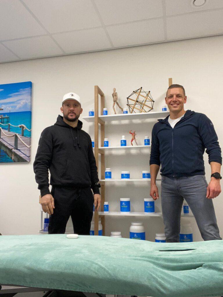 Martijn Strien met Andy Souwer ambassadeur Songbird producten